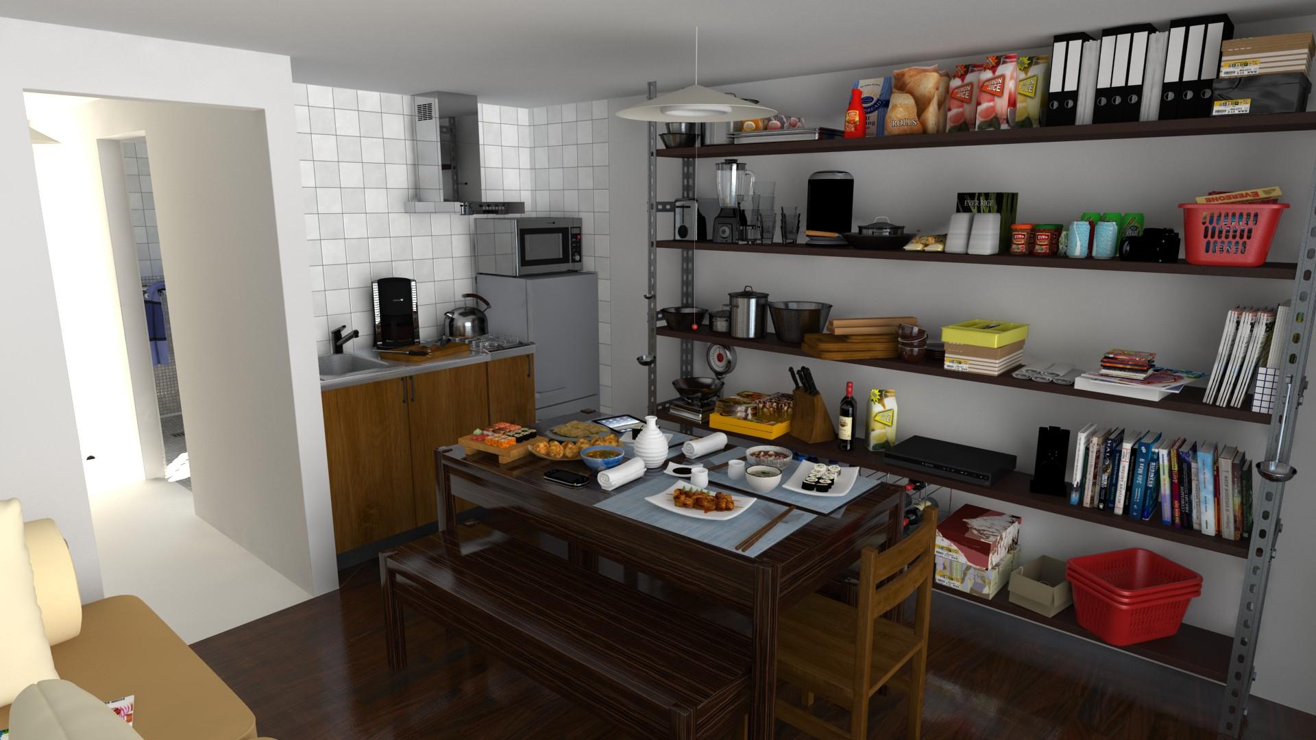 Küche (LDK Room)